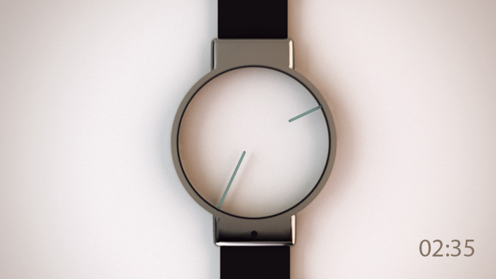 La montre la plus minimaliste du monde for Mouvement minimaliste