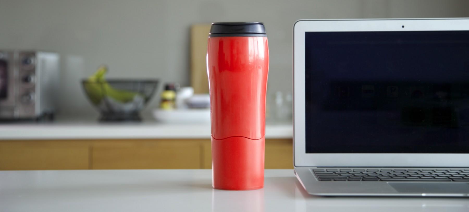 Red Mighty Mug Go Kitchen Banner
