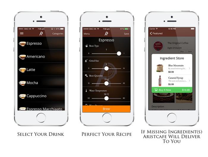 application mobile pour le café
