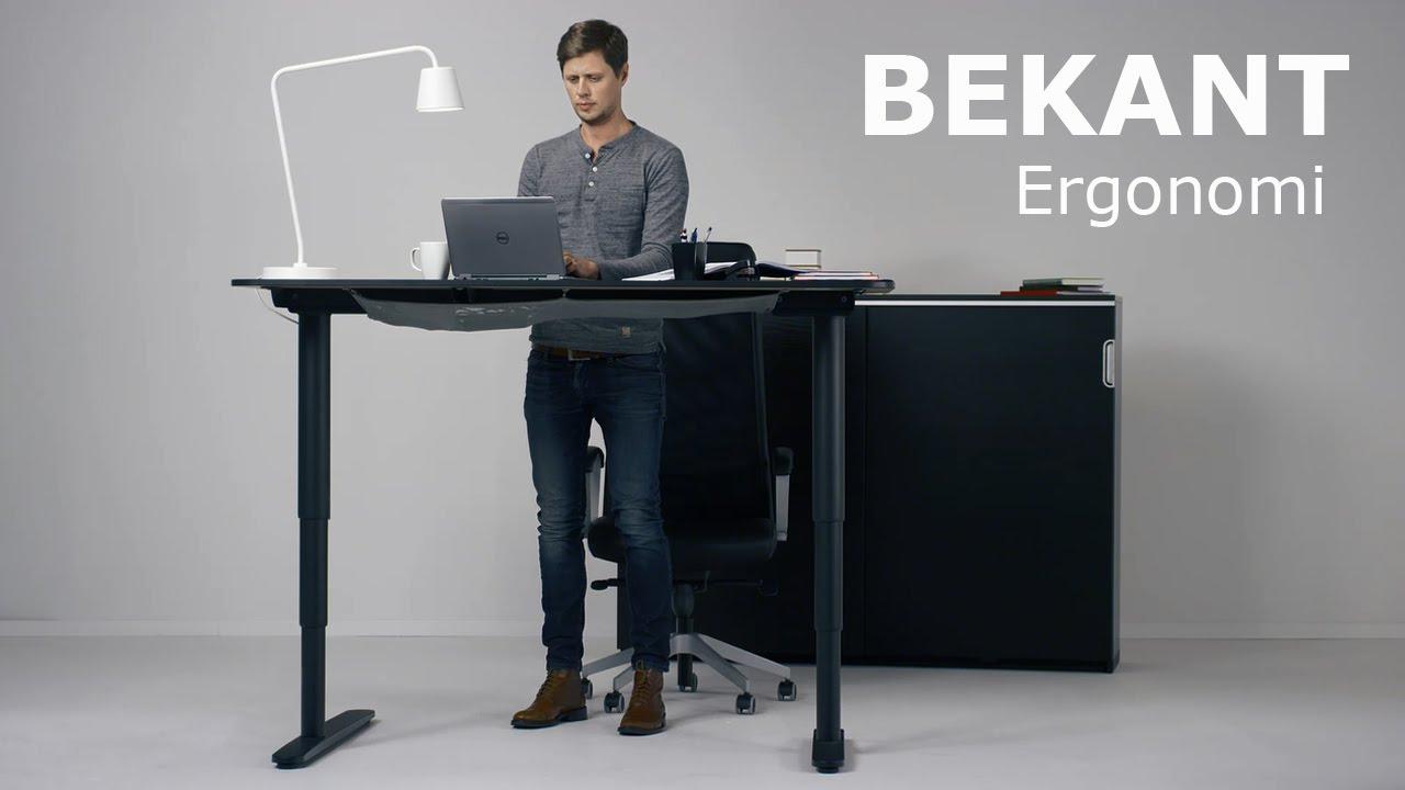 Ikea bekant le bureau motorisé