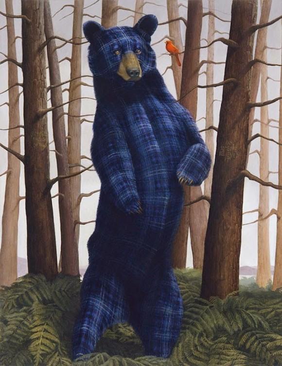 Tartan-Animals-Paintings-sean-landers-bear-580x752