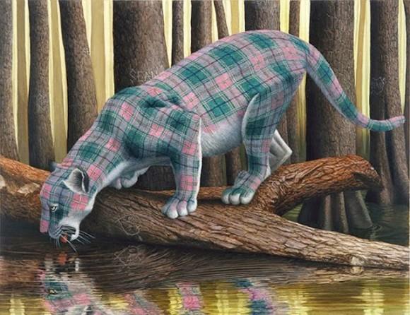 Tartan-Animals-Paintings-sean-landers-leopard-580x446