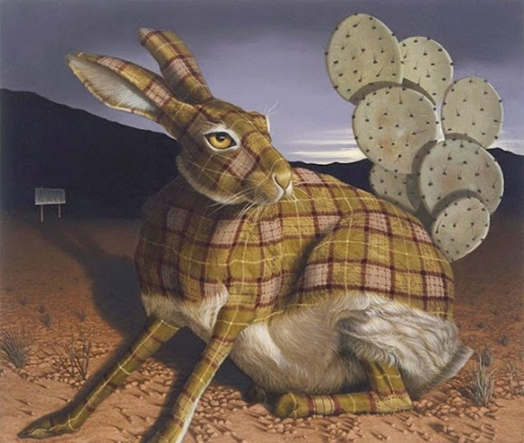 Tartan-Animals-Paintings-sean-landers-rabbit-580x491