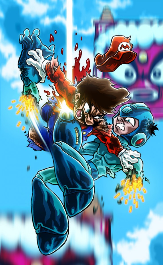 megaman combat illustré