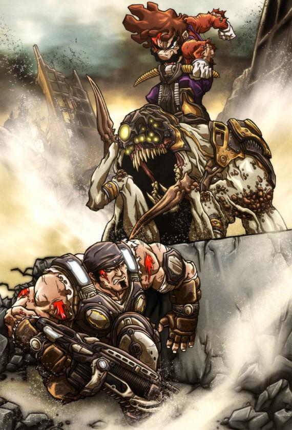 metal combat illustré
