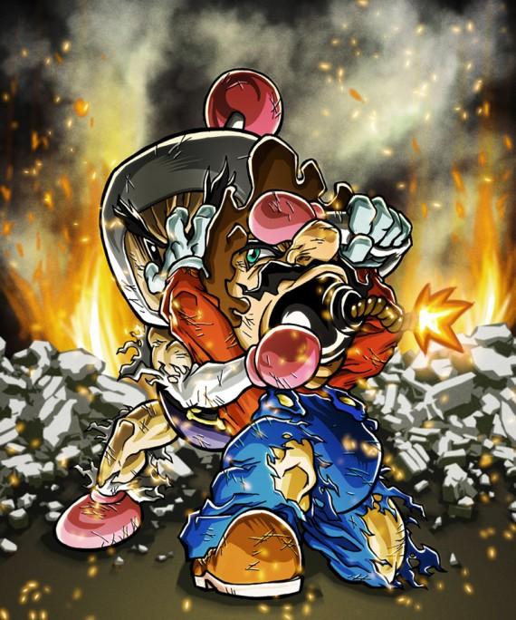 bomberman combat illustré