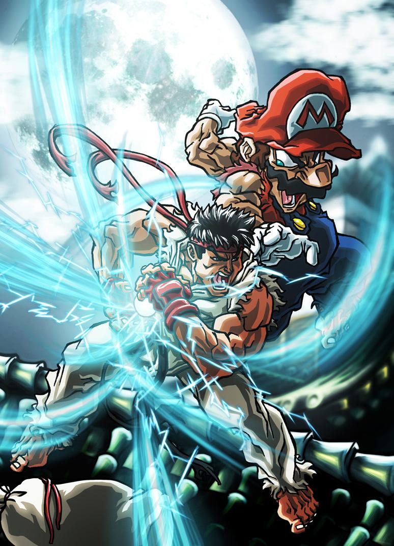 ryu combat illustré