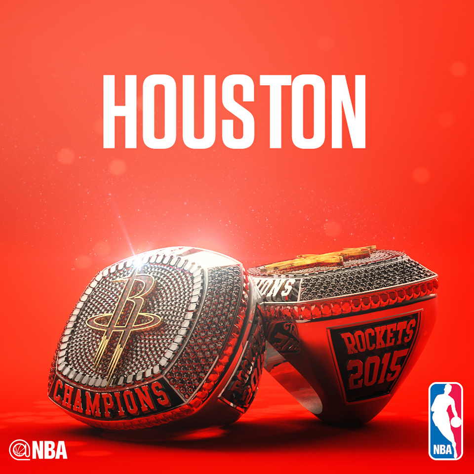 Houston Rockets Nba Championships: Les Bagues Des Phases Finales De La NBA