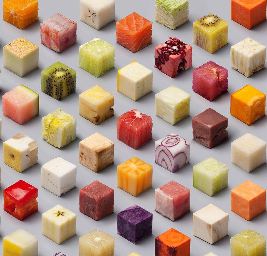 Cubes une mosaique culinaire compl tement food for Decoupe fruit decoration