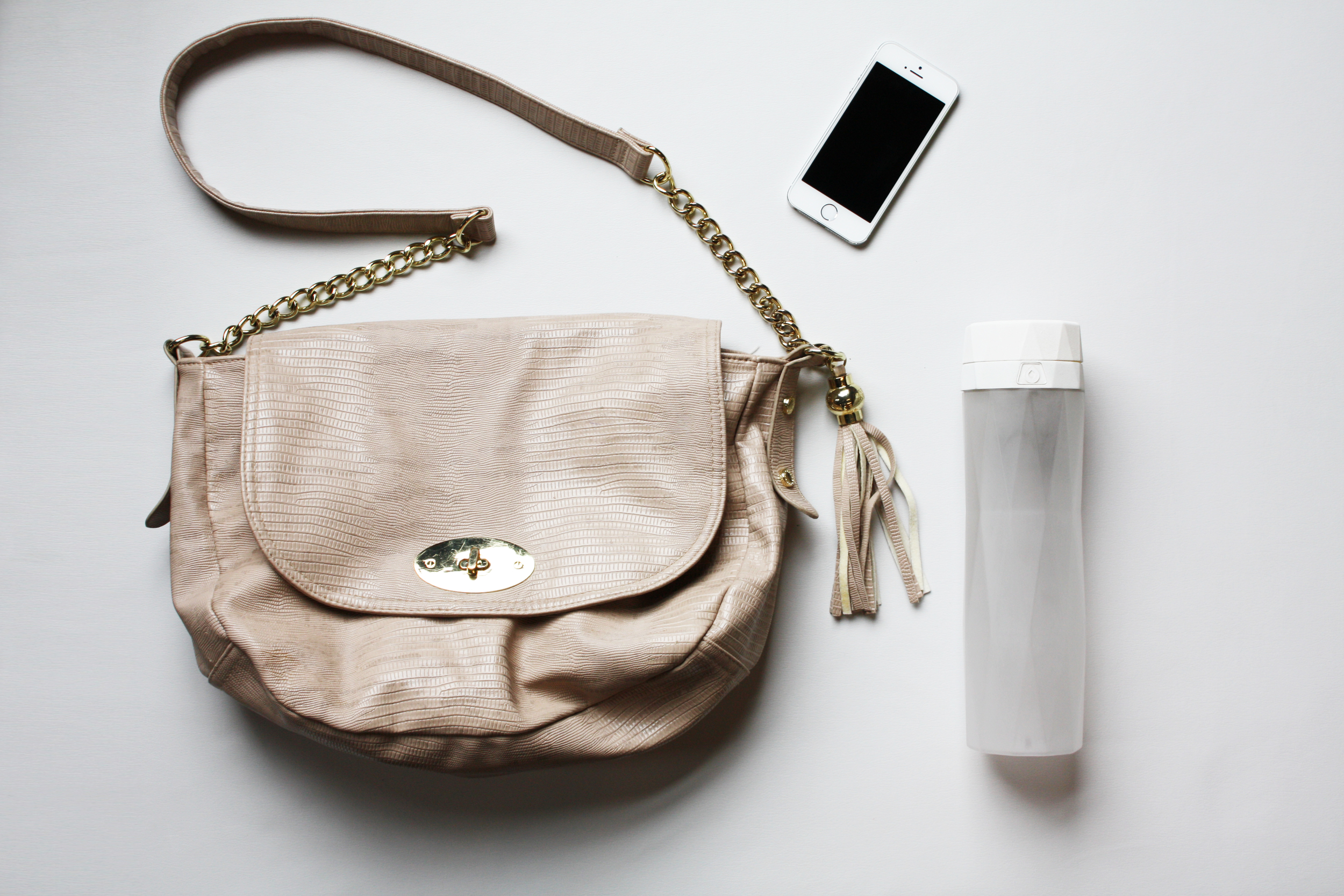 Purse+phone+bottle