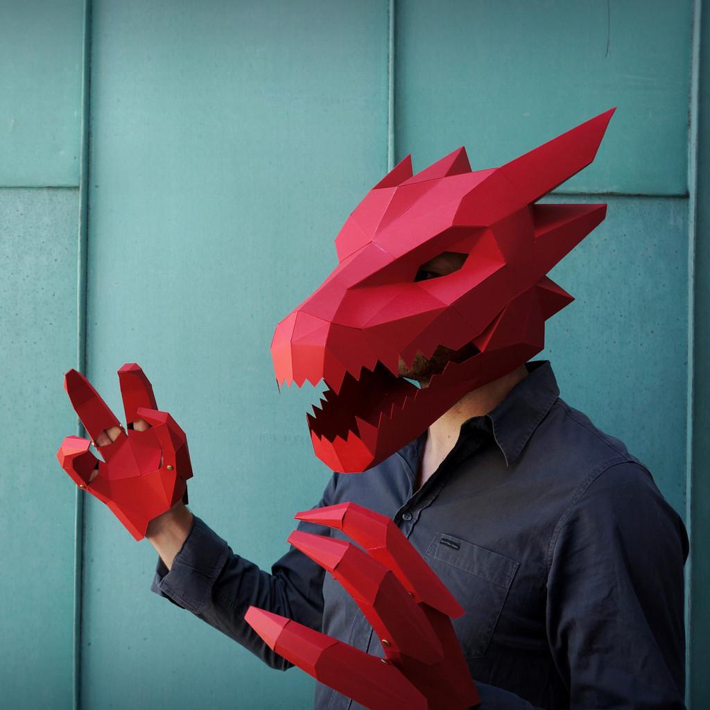 masque halloween origami 05