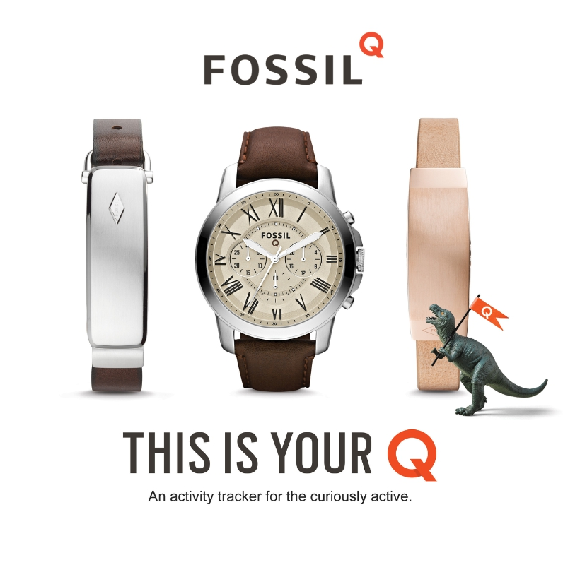 Introducing: Fossil Q. The connected accessory that fits your style, tracks your steps, and keeps you curious. With two types of connected watches (both display and non-display) and two styles of connected bracelets (one for men and one for women), there's something for everyone. Fashion meets function in stores October 25. (PRNewsFoto/Fossil)