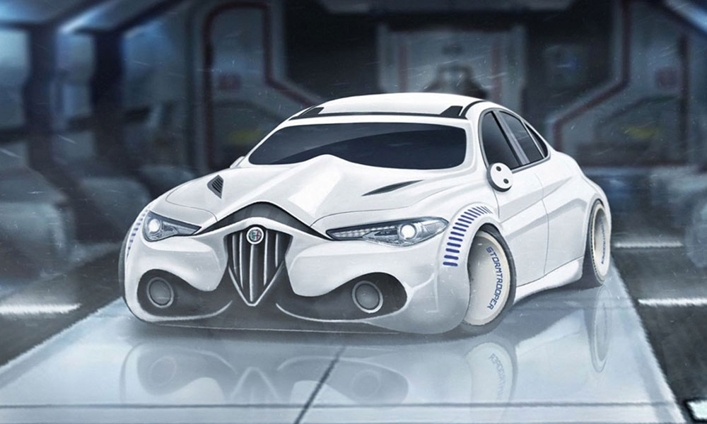 star wars voiture personnage alfa romeo chasseursdecool