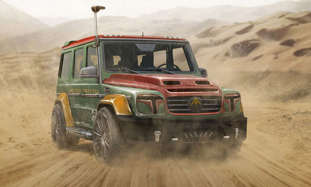 star wars voiture personnage brabus chasseursdecool