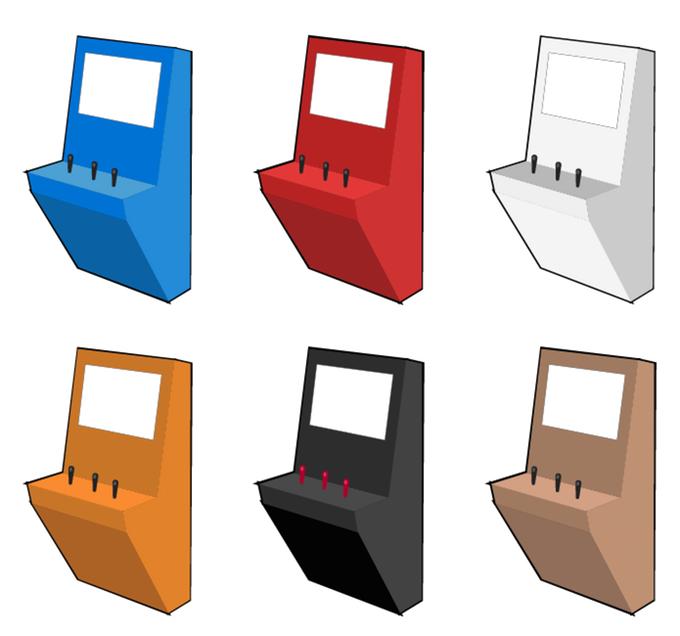 Top Polycade : une borne d'arcade rétro au design futuriste VS11