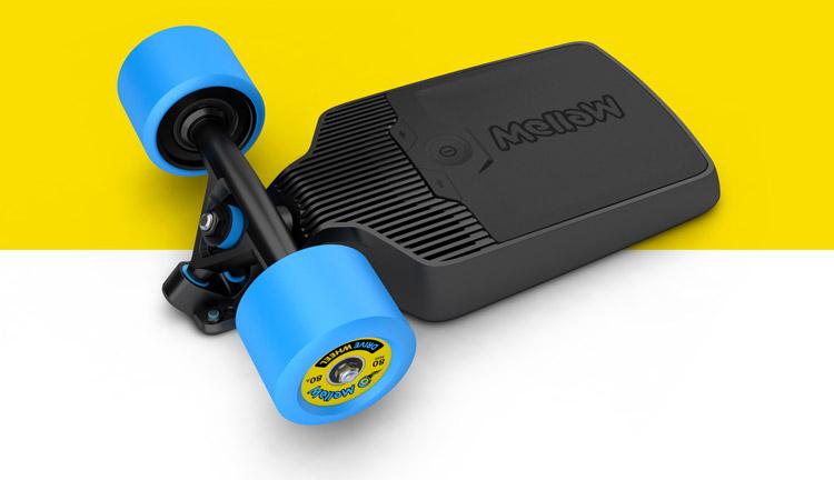 mellow transformez votre skateboard en skateboard lectrique. Black Bedroom Furniture Sets. Home Design Ideas