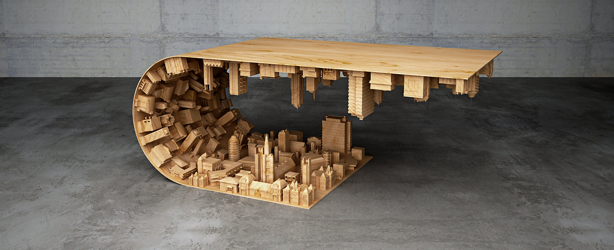 Une table basse inspirée d u2019inception # Table Basse Originale En Bois