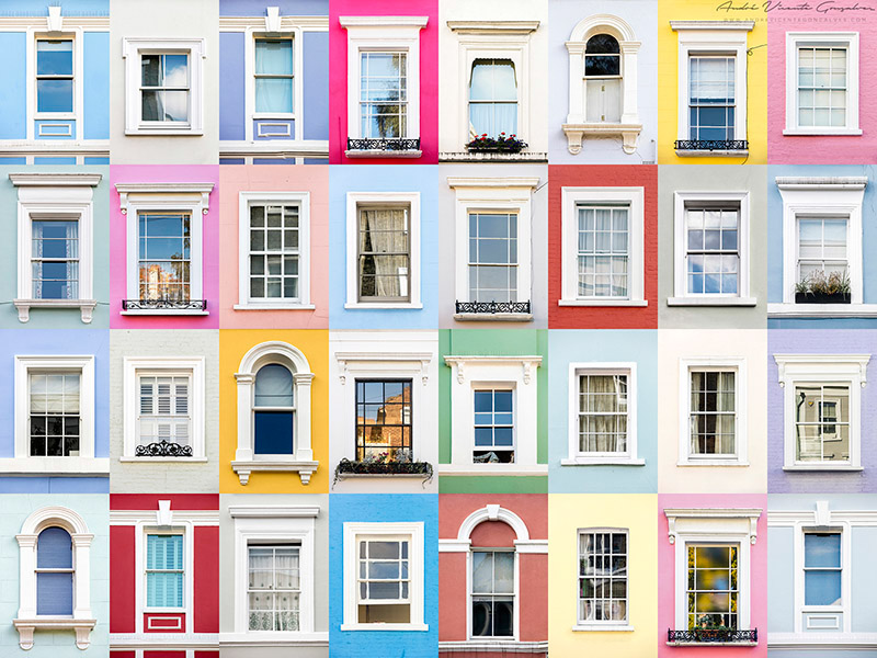 Windows of the World - Notting Hill, London, England