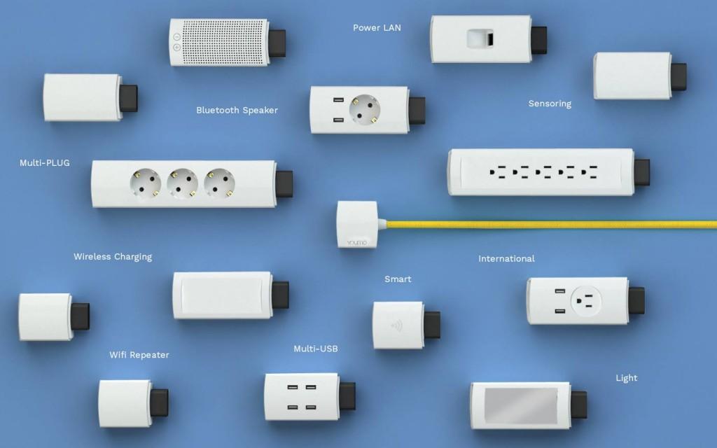youmo prise modulaire chargeur sans fil lampe multiprises 02