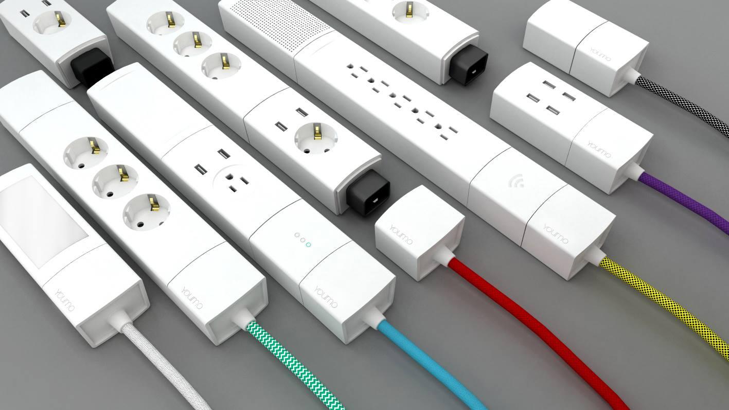 youmo prise modulaire chargeur sans fil lampe multiprises home