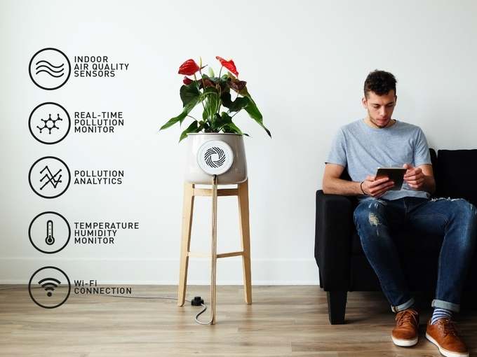 clairy purificateur d'air plante design kickstarter 03