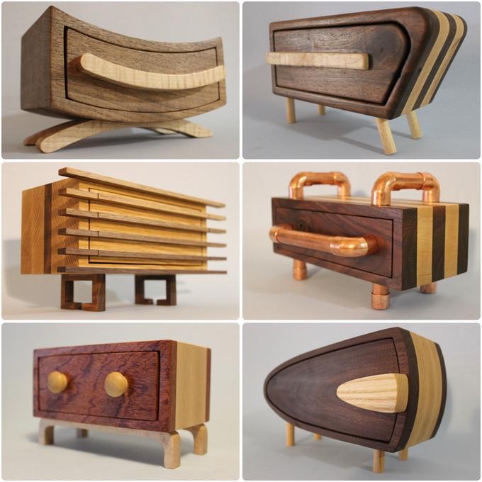 Parillaworks Meuble Miniature Bois 02