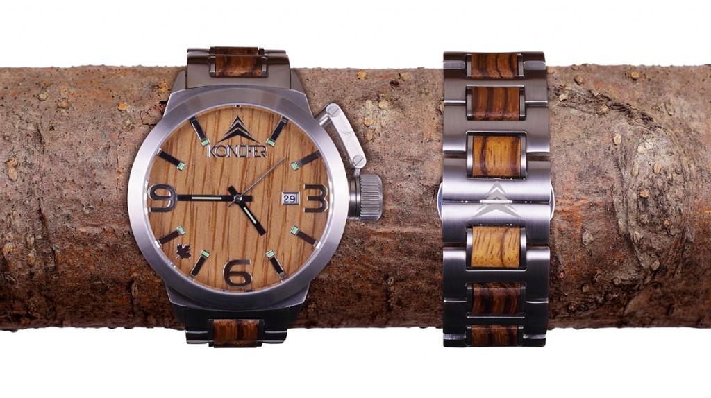 konifer karbon watch montre bois metal 03