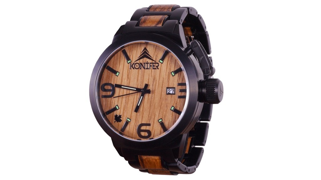 konifer karbon watch montre bois metal 04