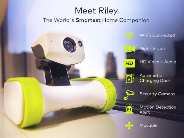 riley robot surveillant caméra maison 01