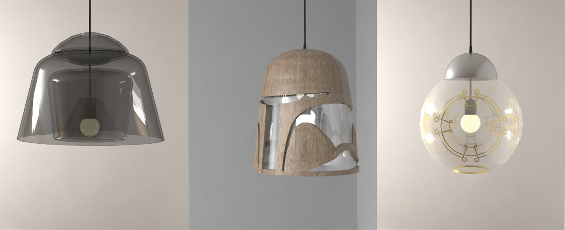 des luminaires inspir s de l 39 univers star wars. Black Bedroom Furniture Sets. Home Design Ideas