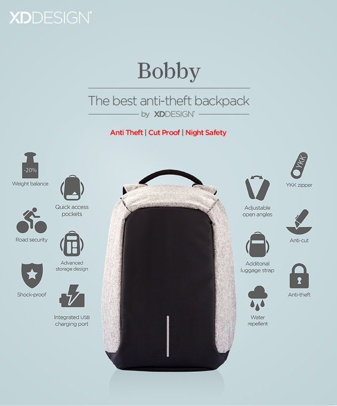 bobby XD design sac à dos contre le vol 01