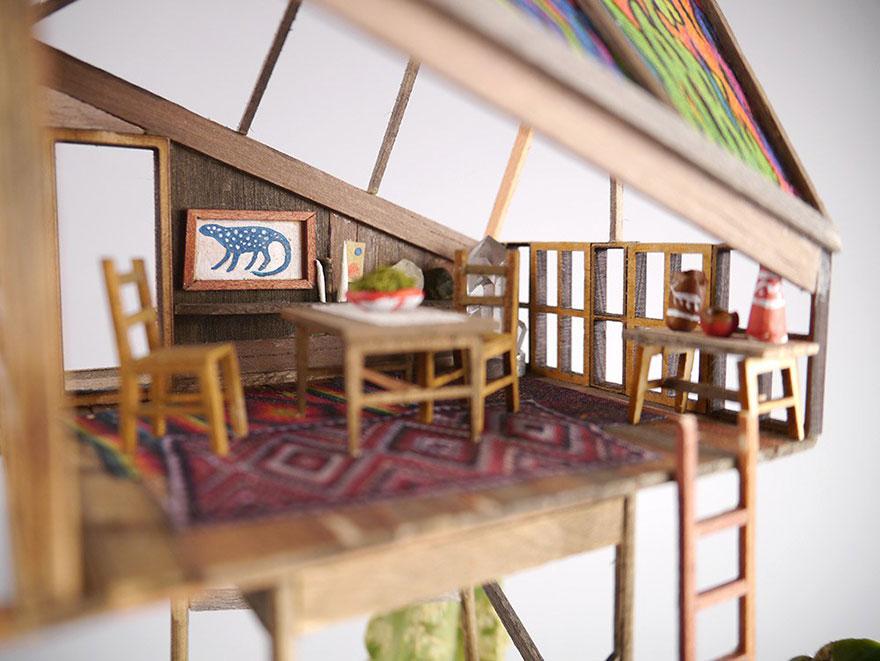 maison miniature plantes intérieure 04