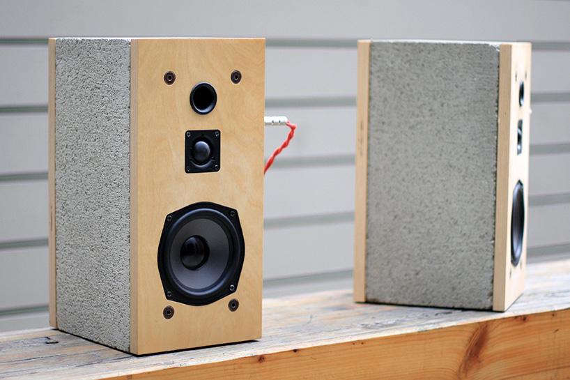 des enceintes en b ton pour les ma ons du son. Black Bedroom Furniture Sets. Home Design Ideas